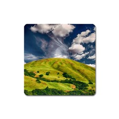 Hill Countryside Landscape Nature Square Magnet by Celenk