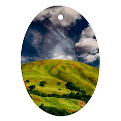 Hill Countryside Landscape Nature Oval Ornament (two Sides) by Celenk