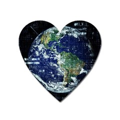 Earth Internet Globalisation Heart Magnet