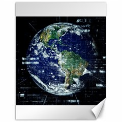 Earth Internet Globalisation Canvas 12  X 16   by Celenk
