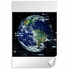 Earth Internet Globalisation Canvas 24  X 36  by Celenk