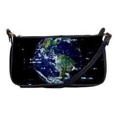 Earth Internet Globalisation Shoulder Clutch Bags by Celenk