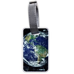 Earth Internet Globalisation Luggage Tags (one Side)