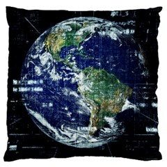 Earth Internet Globalisation Standard Flano Cushion Case (two Sides) by Celenk