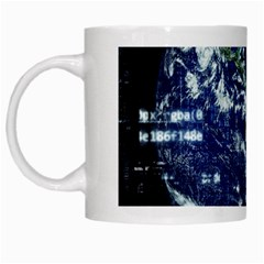 Earth Internet Globalisation White Mugs