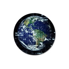 Earth Internet Globalisation Magnet 3  (round)
