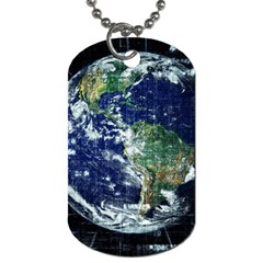 Earth Internet Globalisation Dog Tag (two Sides)