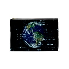 Earth Internet Globalisation Cosmetic Bag (medium)  by Celenk