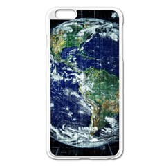 Earth Internet Globalisation Apple Iphone 6 Plus/6s Plus Enamel White Case by Celenk