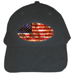 American Flag Usa Symbol National Black Cap by Celenk