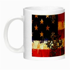 American Flag Usa Symbol National Night Luminous Mugs by Celenk