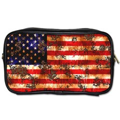 American Flag Usa Symbol National Toiletries Bags by Celenk