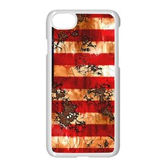 American Flag Usa Symbol National Apple Iphone 7 Seamless Case (white) by Celenk