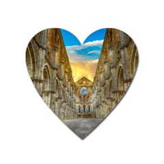 Abbey Ruin Architecture Medieval Heart Magnet
