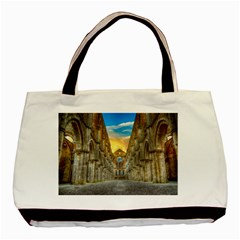 Abbey Ruin Architecture Medieval Basic Tote Bag (two Sides) by Celenk