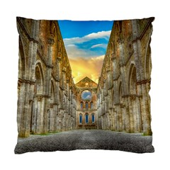 Abbey Ruin Architecture Medieval Standard Cushion Case (two Sides)