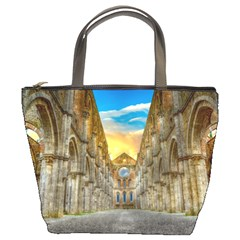 Abbey Ruin Architecture Medieval Bucket Bags by Celenk