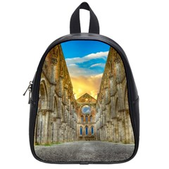 Abbey Ruin Architecture Medieval School Bag (small) by Celenk
