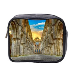 Abbey Ruin Architecture Medieval Mini Toiletries Bag 2 Side by Celenk