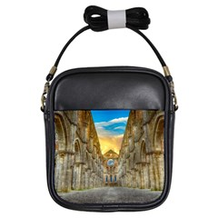 Abbey Ruin Architecture Medieval Girls Sling Bags by Celenk