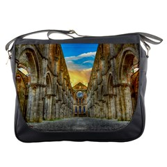 Abbey Ruin Architecture Medieval Messenger Bags by Celenk