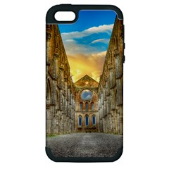 Abbey Ruin Architecture Medieval Apple Iphone 5 Hardshell Case (pc+silicone)
