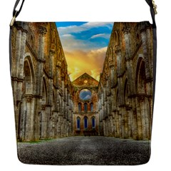 Abbey Ruin Architecture Medieval Flap Messenger Bag (s) by Celenk