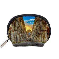 Abbey Ruin Architecture Medieval Accessory Pouches (small)  by Celenk
