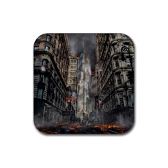 Destruction War Conflict Death Rubber Coaster (square)
