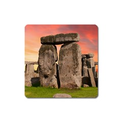 Stonehenge Ancient England Square Magnet