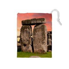 Stonehenge Ancient England Drawstring Pouches (medium)  by Celenk