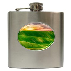 Hills Countryside Sky Rural Hip Flask (6 Oz) by Celenk
