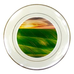 Hills Countryside Sky Rural Porcelain Plates by Celenk