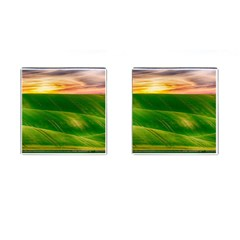 Hills Countryside Sky Rural Cufflinks (square)