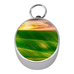 Hills Countryside Sky Rural Mini Silver Compasses by Celenk
