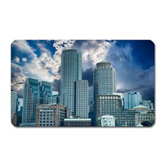 Tower Blocks Skyscraper City Modern Magnet (rectangular) by Celenk