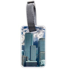 Tower Blocks Skyscraper City Modern Luggage Tags (one Side)  by Celenk