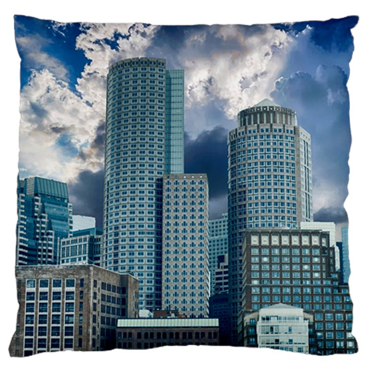 Tower Blocks Skyscraper City Modern Large Cushion Case (Two Sides)