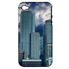 Tower Blocks Skyscraper City Modern Apple Iphone 4/4s Hardshell Case (pc+silicone) by Celenk
