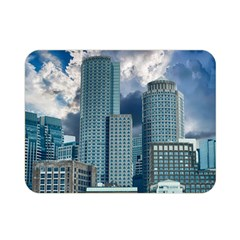 Tower Blocks Skyscraper City Modern Double Sided Flano Blanket (mini)  by Celenk