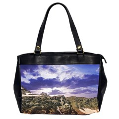 Mountain Snow Landscape Winter Office Handbags (2 Sides)