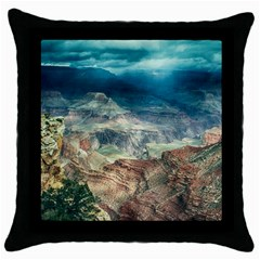 Canyon Mountain Landscape Nature Throw Pillow Case (black) by Celenk