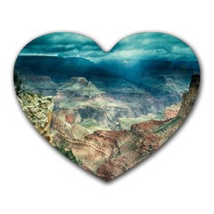 Canyon Mountain Landscape Nature Heart Mousepads