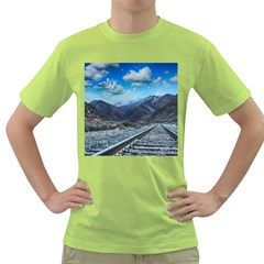 Nature Landscape Mountains Slope Green T Shirt