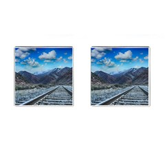 Nature Landscape Mountains Slope Cufflinks (square) by Celenk