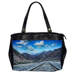 Nature Landscape Mountains Slope Office Handbags (2 Sides)