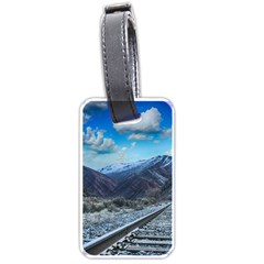 Nature Landscape Mountains Slope Luggage Tags (one Side)  by Celenk