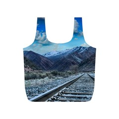 Nature Landscape Mountains Slope Full Print Recycle Bags (s)  by Celenk