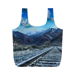 Nature Landscape Mountains Slope Full Print Recycle Bags (m)  by Celenk