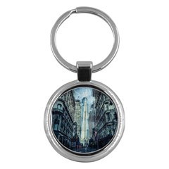 Storm Damage Disaster Weather Key Chains (round)  by Celenk